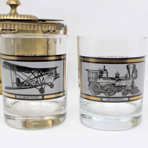"Glasses, Rock/Whiskey, Avon ""America On The Move"" Collection, Set of 2"
