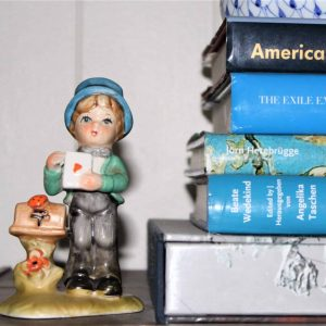 """Figurine, Arnart 5th Avenue """"Boy with Love Letter"""", Porcelain Bisque, Hand Painted"""