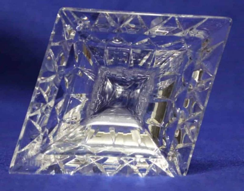 """Candle Holders Crystal Tapers """"Carlingford"""" by Stuart Crystal, Set of 2"""