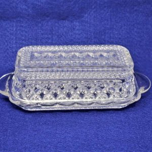 """Butter Dish, with Cover, """"Wexford"""" by Anchor Hocking, Glass, SOLD"""