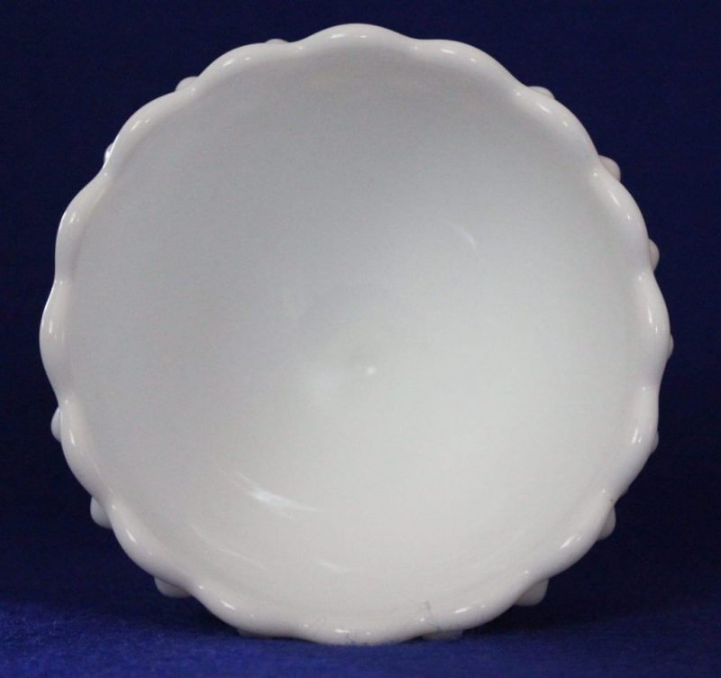 """Candy Dish / Bowl, Footed """"Hobnail"""" Milk Glass, SOLD"""