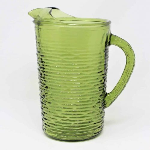 "Pitcher, ""Soreno"" Avocado Green, Large Size, 67 oz by Anchor Hocking"