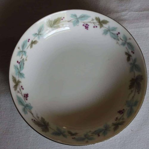 "Bowl, Fruit/Dessert, ""Vintage 6701"" by Fine China of Japan, Grape Vines, SOLD"