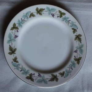 """Plate, Dinner, """"Vintage 6701"""" by Fine China of Japan, Grape Vines, SOLD"""