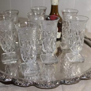 """Glasses, Parfait, """"Cape Cod"""" by Imperial Glass Company, Set of 8"""