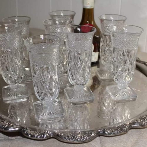 "Glasses, Parfait, ""Cape Cod"" by Imperial Glass Company, Set of 8"