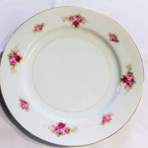 Plate, Bread and Butter, RC Stamp N1427, Noritake, Pink/Red Roses