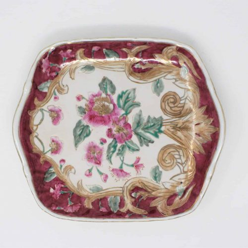 Decorative Plate, Hand Painted, Oriental Accent, Square, Ceramic