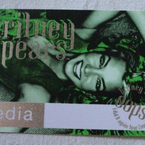 """Backstage Pass, Britney Spears """"Oops... I Did It Again"""" 2000 Concert Tour, Media Pass"""
