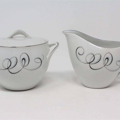 "Creamer and Sugar with Lid Set, ""Rhythm"" by Style House, Retro, Japan"