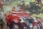 Print, Frank Wootton, Set of 5 Car Prints from 1958, Unused Originals, SOLD