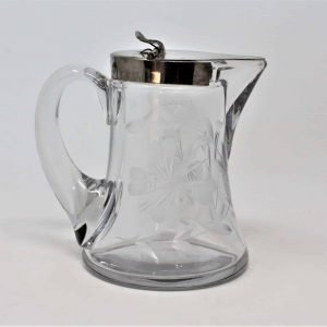 Dispenser, Syrup, Pitcher, Etched Moth/Butterfly by Heisey, Glass