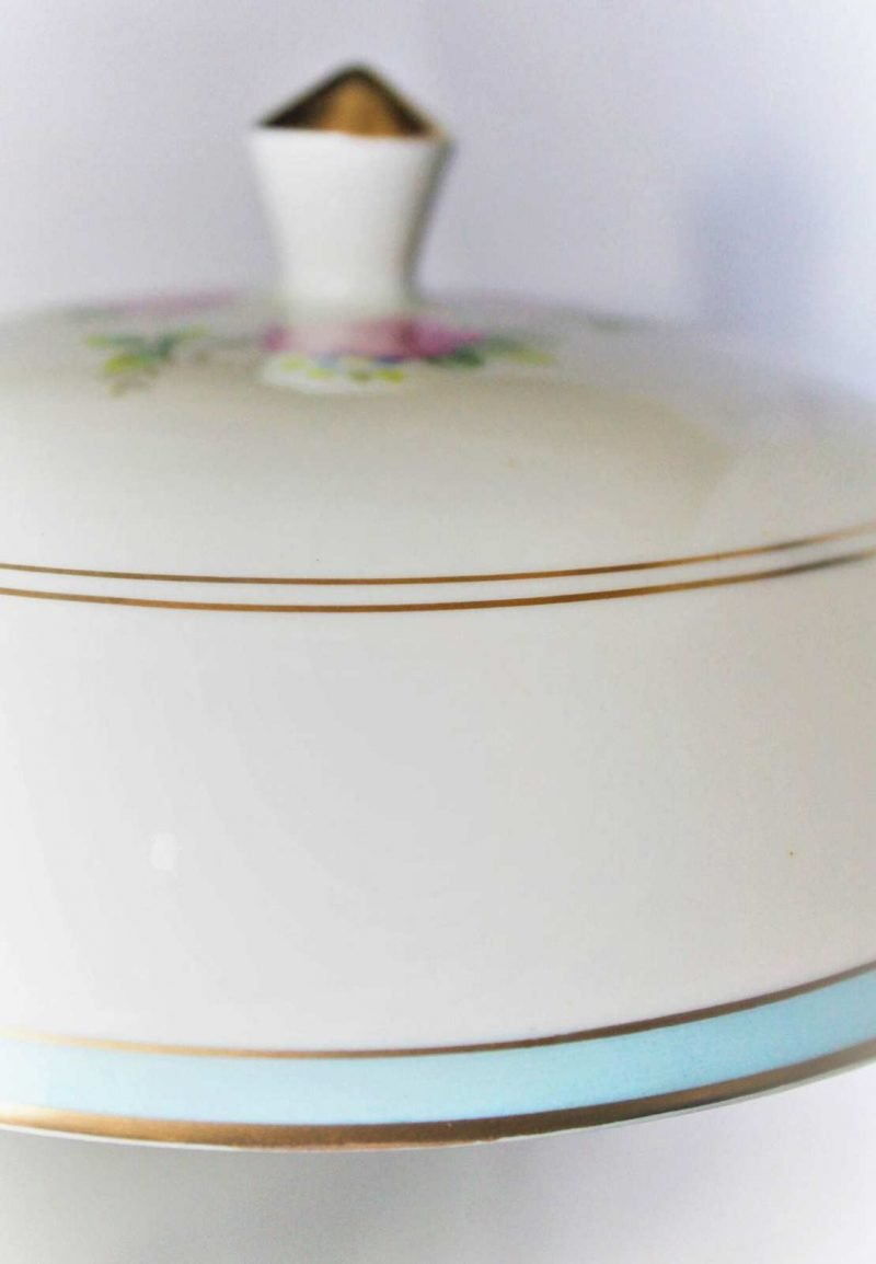"""Plate, Cloche with Cover/Muffin, Royal Jackson Featherweight, """"Rhoda"""" Pattern, SOLD"""