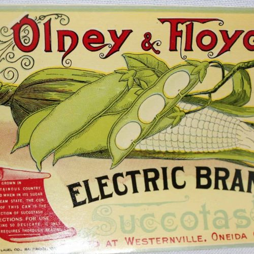 Label Can, Electric Brand Succotash, Genuine Original NOS