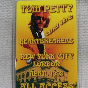 """Backstage Pass, 1999 Tom Petty and the Heartbreakers """"Echo Concert"""" Tour, All-Access"""
