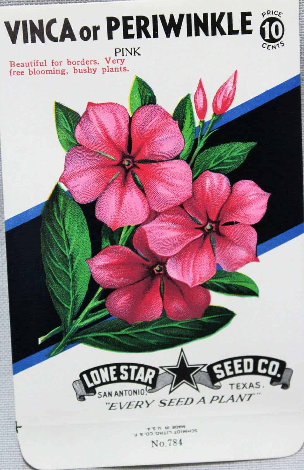 Scarlet Runner Vintage seed packet Lone Star Seed Co