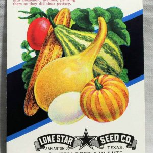 Seed Packets, Gourds #546 by Lone Star Seed Co. 1950's, NOS