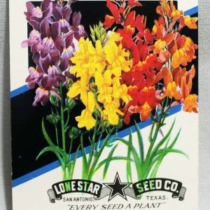 Seed Packets, Linaria #937 by Lone Star Seed Co. 1950's NOS