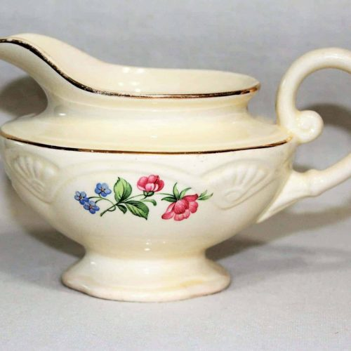 "Creamer, Footed, ""Springtime"" (Marigold) by Homer Laughlin"