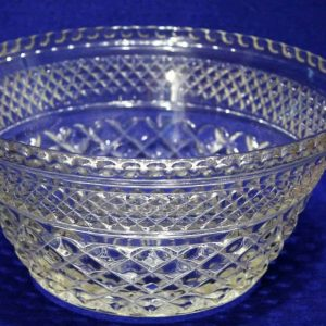 """Serving Bowl, Salad/Fruit, Glass """"Wexford"""" by Anchor Hocking 9"""", SOLD"""
