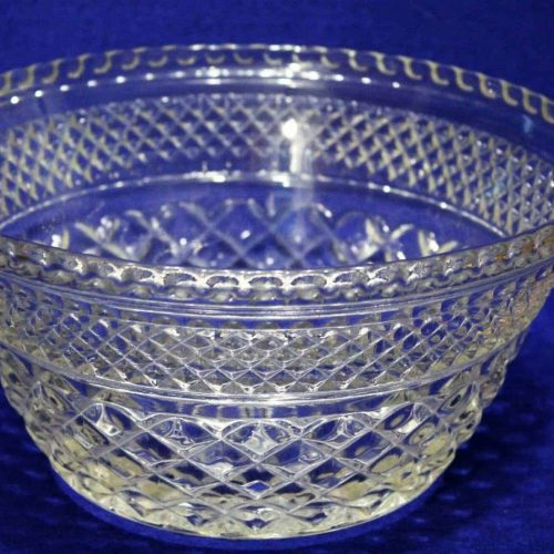 "Serving Bowl, Salad/Fruit, Glass ""Wexford"" by Anchor Hocking 9"", SOLD"