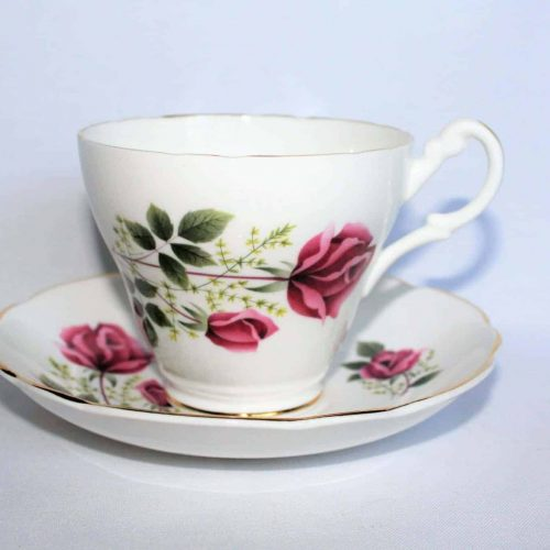 Teacup and Saucer, Royal Ascot, Pink Roses, England