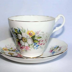 Teacup and Saucer, Royal Ascot, Multi-Floral, SOLD