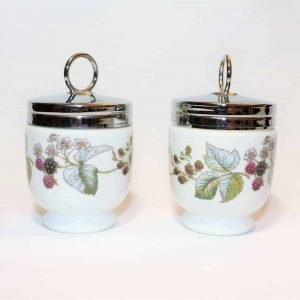 """Egg Coddlers / Egg Cups with Lid, """"Lavinia"""" by Royal Worcester, Set of 2"""