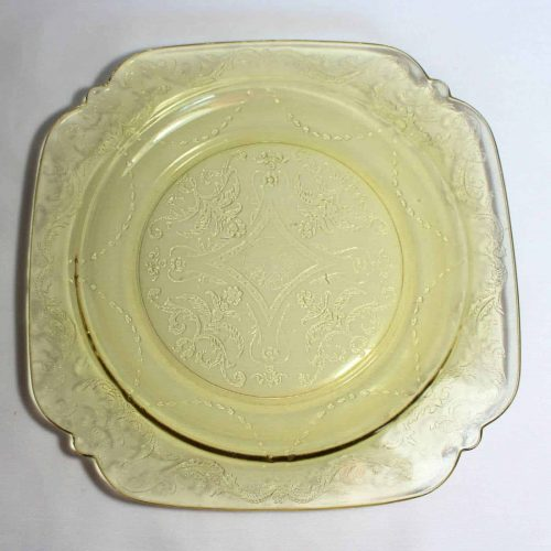 """Plate Luncheon, """"Recollection"""" Amber, Indiana Glass, (Federal Glass-Madrid)"""