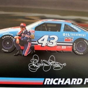 Sign, Richard Petty with Car #43, Signed, Metal
