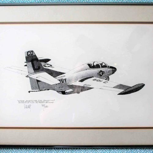 Print, Joe Milich, Navy T-2C Buckeye, Framed, Signed and Numbered