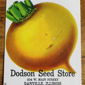 Seed Packets, Turnip by Dodson Seed Store 1940's, NOS