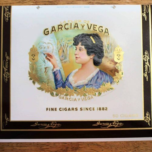 Label Cigar Box, Garcia y Vega Inner Label, Genuine-Original 1930's, Unused NOS