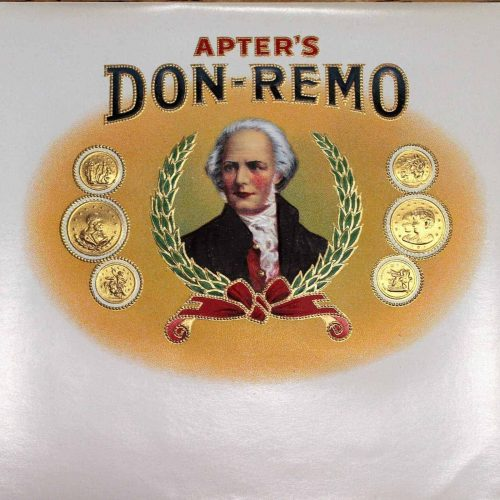 Label Cigar Box, Don Remo, Apter's- Genuine-Original 1910's - Unused NOS