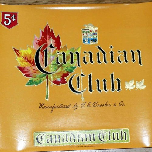 Label Cigar Box Canadian Club Inner Box, Genuine-Original 1930's - Unused NOS