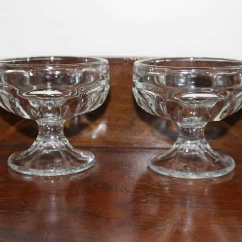 Cup Dessert/Sherbet, Libbey Clear, Footed, Set of 4
