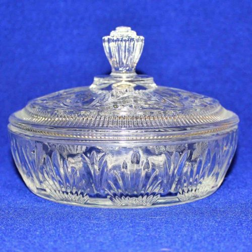 Candy Dish / Powder Puff Bowl with Lid, Avon Trinket Box AVC2