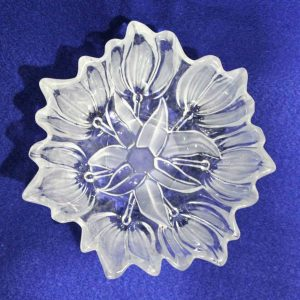 """Bowl, Decorative, Frosted Glass, """"Sylvia"""" by Walther Glas 7"""""""