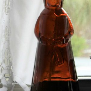 Bottle Mrs Butterworth's Amber Glass Syrup, 11 Inches Tall