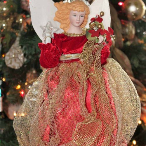 Angel Christmas Tree Topper, Fiber Optic Lights