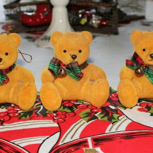 Light string, Flocked Teddy Bear Light Bulb Covers