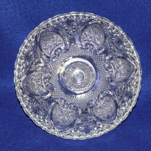 Bowl, Decorative, Embossed Hearts & Fleur De Lis, Lidded, KIG