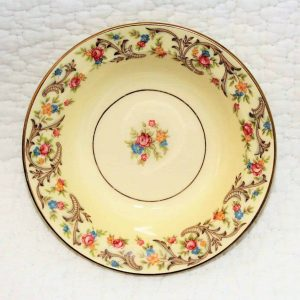 """Bowl Fruit/Dessert by Taylor, Smith & Taylor, """"Scroll Border"""""""