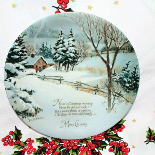 Decorative Plate, Merry Christmas by Robert Laessig, 1975
