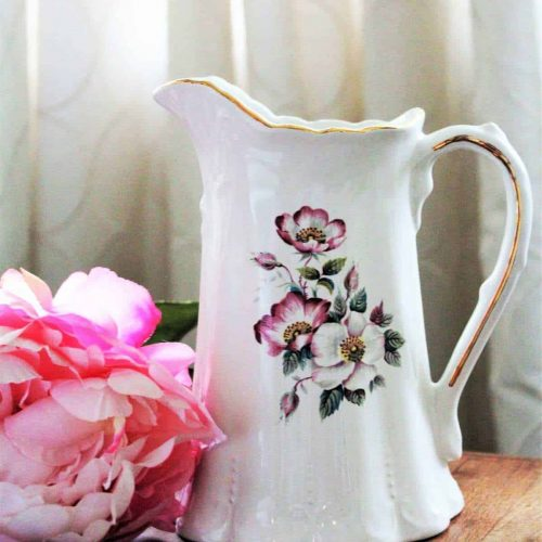 Pitcher, Briar Rose / Dogwood, Ceramic by House of Webster