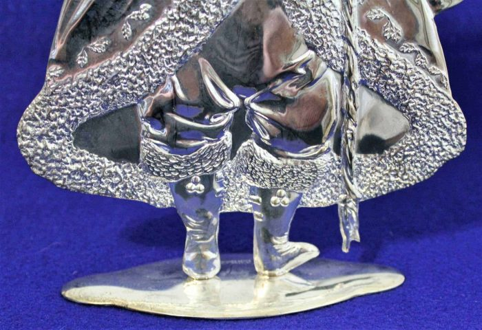 Candle Holder, Silver plate Santa Claus/Father Christmas, International Silver