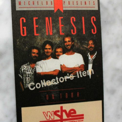 "Backstage Pass Genesis ""Invisible Touch"" 1987 Concert Tour Collector's Cloth Pass"