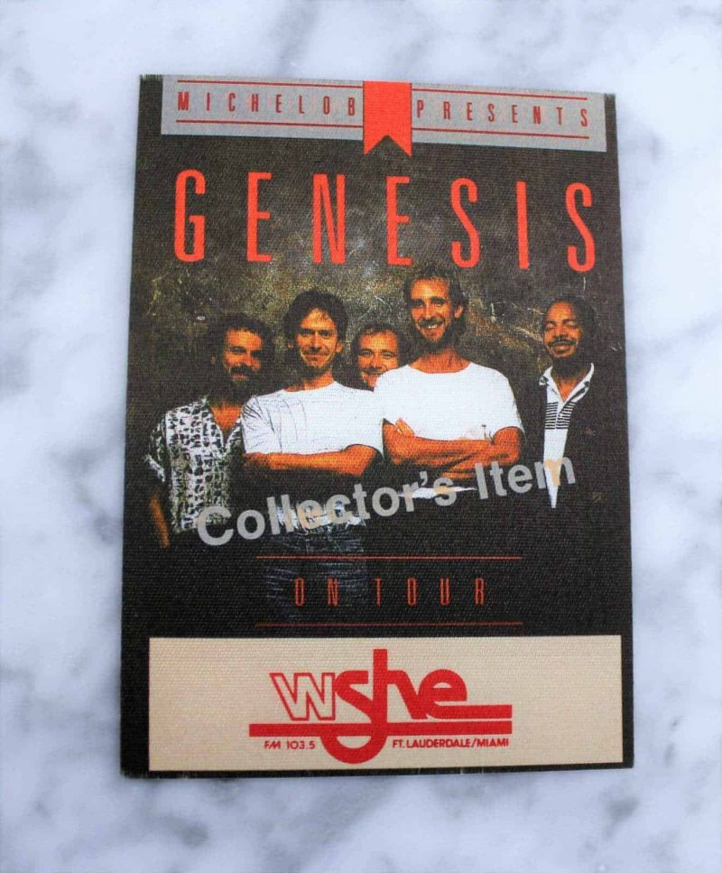 """Backstage Pass Genesis """"Invisible Touch"""" 1987 Concert Tour Collector's Cloth Pass"""