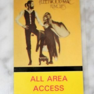 """Backstage Pass Fleetwood Mac """"Rumours"""" Tour 1977-78, All Area Access"""