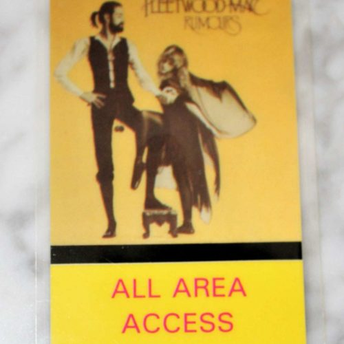 "Backstage Pass Fleetwood Mac ""Rumours"" Tour 1977-78, All Area Access"